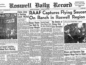 Roswell UFO newspaper release